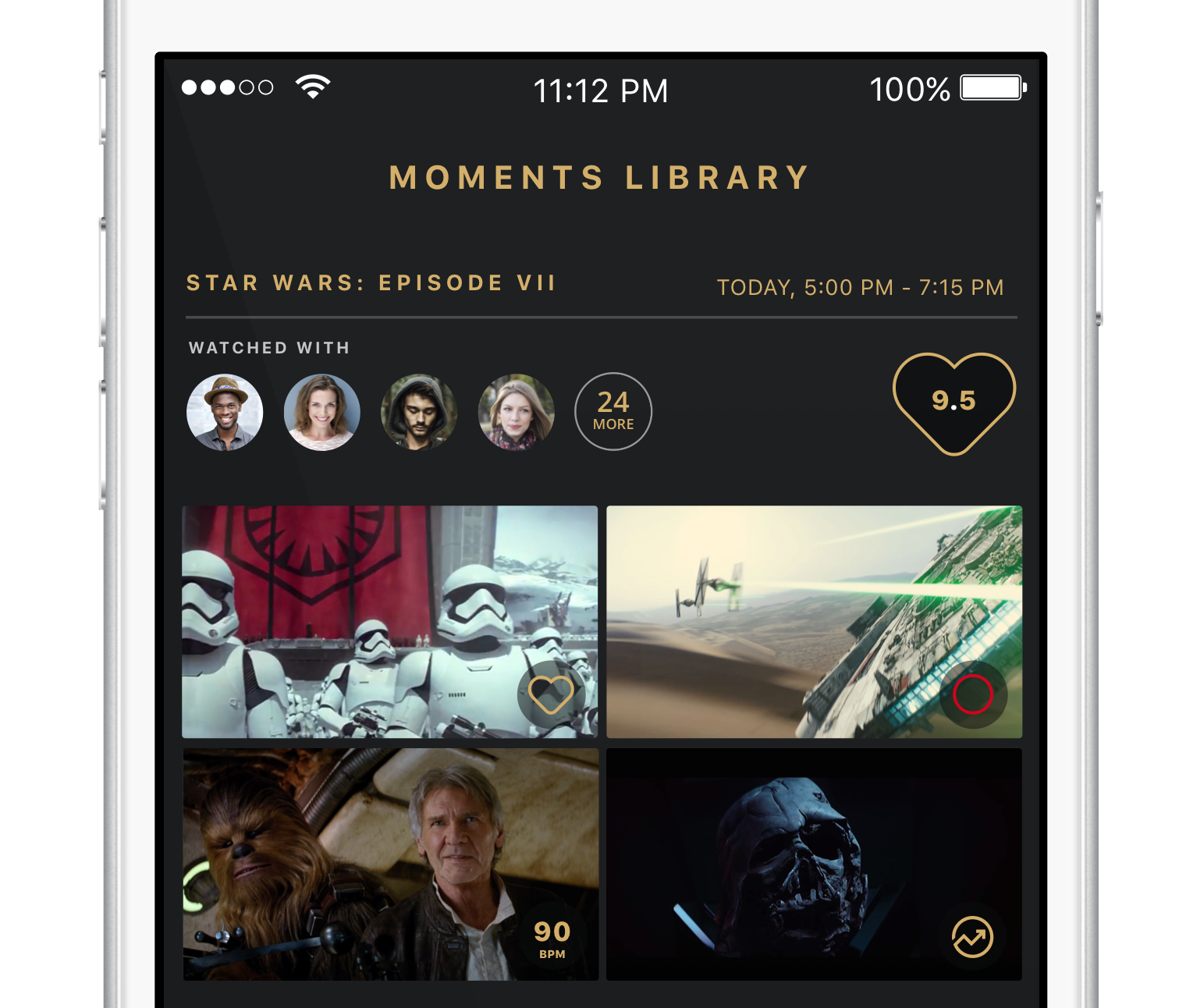Moments Library